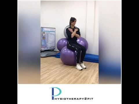 A single leg balance on a gym ball