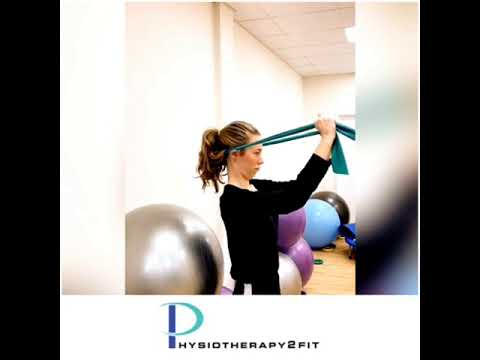 Chin tucks with resistance band