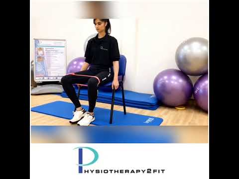 Seated hip abduction with theraband