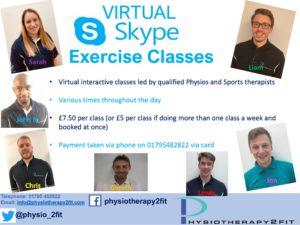 virtual skype exercise class