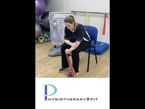 Wrist strength into ulnarradial deviation with Theraband
